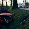 Dębina: Dachowała, wypadła przez okno i została przygnieciona przez pojazd - 31.01.2018
