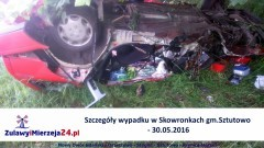 Szczegóły wypadku w Skowronkach gm.Sztutowo - 30.05.2016