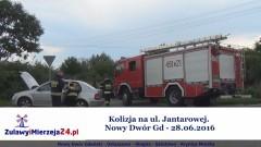 Kolizja na ul. Jantarowej. Nowy Dwór Gd - 28.06.2016