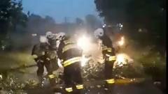 Żuławy. Cofka, ulewy i wiatr. Strażacy interweniowali kilkadziesiąt razy - 15.07.2016