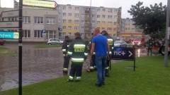Ulewa i znów zalane ulice. Nowy Dwór Gd - 05.08.2016
