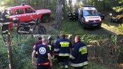 Wpadła do 5 - metrowego rowu przeciwczołgowego. Znaleźli ją strażacy z OSP Sztutowo - 06.09.2016