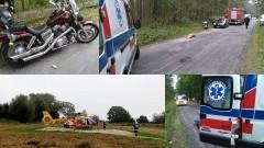 Piaski. Motocyklem uderzył w zwierzę na drodze - 11.09.2016
