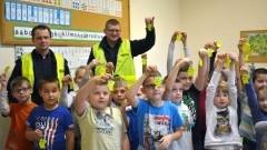 Policjanci z wizytą w szkole w Marynowach - 25.10.2016