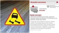 Powiat Nowodworski. Niebezpiecznie na drogach. Marznące opady, gołoledź - 13.12.2016