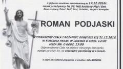 Zmarł Roman Podjaski. Żył 56 lat.