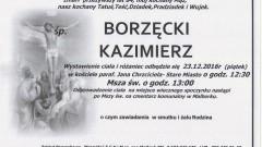 Zmarł Kazimierz Borzęcki. Żył 84 lata.