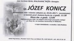 Zmarł Józef Konicz. Żył 64 lata.
