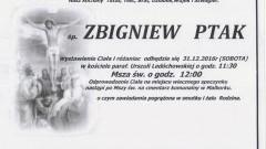 Zmarł Zbigniew Ptak. Żył 67 lat.