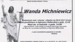 Zmarła Wanda Michniewicz. Żyła 93 lata.