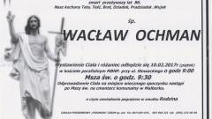 Zmarł Wacław Ochman. Żył 86 lat.