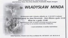 Zmarł Władysław Minda. Żył 84 lata.