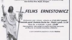 Zmarł Feliks Ernestowicz. Żył 68 lat.