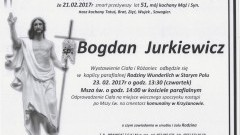 Zmarł Bogdan Jurkiewicz. Żył 51 lat.