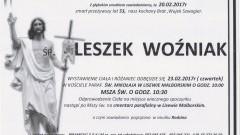 Zmarł Leszek Woźniak. Żył 53 lata.
