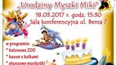 """Zapraszamy na II Zlot Fanów Bajek Walta Disneya """"Urodziny Myszki Miki"""" - 18.03.2017"""