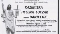 Zmarła Kazimiera Helena Łuczak. Żyła 77 lat.