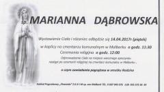 Zmarła Marianna Dąbrowska. Żyła 89 lat.