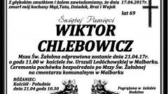Zmarł Wiktor Chlebowicz. Żył 69 lat.