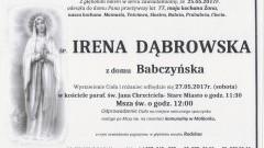 Zmarła Irena Dąbrowska. Żyła 77 lat.
