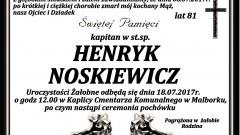 Zmarł Henryk Noskiewicz. Żył 81 lat.