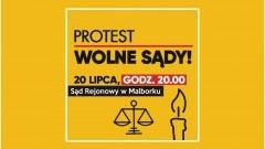 Malbork : Zapalmy świeczkę za demokrację ! - 20.07.2017