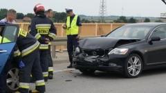 """Wypadek na krajowej """"siódemce"""". Most w Kiezmarku, ruch wahadłowy - 31.07.2017"""