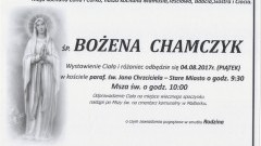 Zmarła Bożena Chamczyk. Żyła 61 lat.