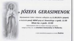 Zmarła Józefa Gerasimenok. Żyła 88 lat.