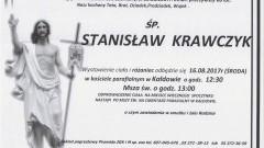 Zmarł Stanisław Krawczyk. Żył 86 lat.
