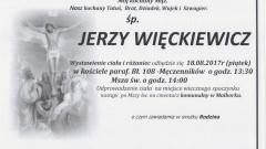 Zmarł Jerzy Więckiewicz. Żył 67 lat.