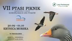 Krynica Morska: Zapraszamy miłośników ptaków, przyrody, lasu i aktywnego spędzania czasu na łonie natury na siódmy PTASI PIKNIK. - 30.09/01.10.2017