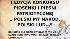 """Stegna: I edycja konkursu dla szkół piosenki i pieśni patriotycznej - """" POLSKI MY NARÓD, POLSKI LUD…""""- 09.11.2017"""