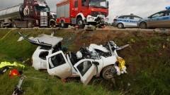 Cedry Małe: Zderzenie samochodu osobowego i ciężarówki - 12.10.2017