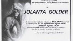 Zmarła Jolanta Golder. Żyła 68 lat.