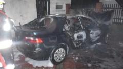 Mikoszewo: Pożar samochodu osobowego. - 07.11.2017