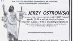 Zmarł Jerzy Ostrowski. Żył 84 lat.