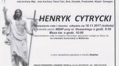 Zmarł Henryk Cytrycki. Żył 80 lat