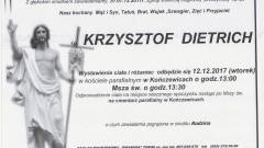 Zmarł Krzysztof Dietrich. Żył 42 lat.