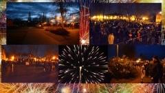 NDG: Pokaz fajerwerków i serdeczne życzenia od burmistrza na nowy 2018 rok. - 01.01.2018