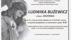 Zmarła Ludwika Bużewicz. Żyła 63 lat.