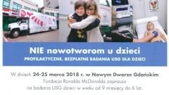 Profilaktyczne, bezpłatne USG dla dzieci w Nowym Dworze Gdańskim - 24-25.03.2018