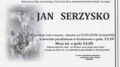 Zmarł Jan Serzysko. Żył 78 lat.