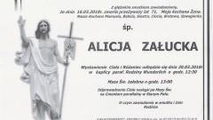 Zmarła Alicja Załucka. Żyła 71 lat