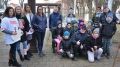 Kampania informacyjna z okazji Światowego Dnia Dzieci z Zespołem Downa w Nowym Dworze Gdańskim