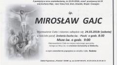 Zmarł Mirosław Gajc. Żył 55 lat