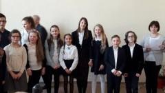 Uczniowie Szkoły Podstawowej w Jantarze na podium X Powiatowego Konkursu Recytatorskiego
