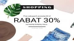 Przy zakupach powyżej 60 zł - rabat 30% na każdą kolejną rzecz