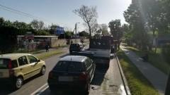 Kolizja 3 aut na ulicy Warszawskiej w Nowym Dworze Gdańskim