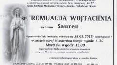 Zmarła Romualda Wojtachnia. Żyła 87 lat.